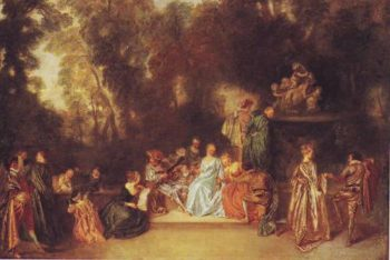 Party In The Open Air | Antoine Watteau | oil painting