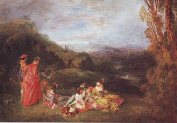 Peaceful Love | Antoine Watteau | oil painting