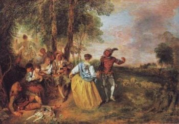 The Shepherds | Antoine Watteau | oil painting
