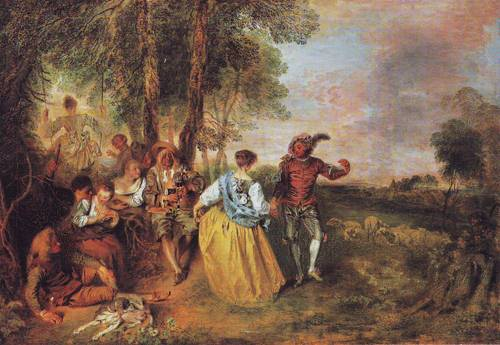The Shepherds | Antoine Watteau | oil painting