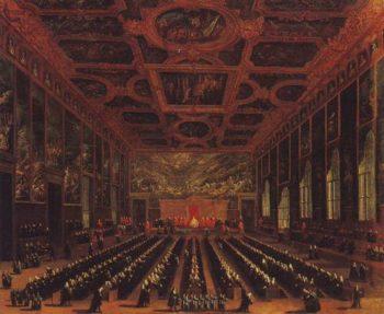 The Sala Del Maggior Consiglio Doges Palace | Antonio Diziani | oil painting