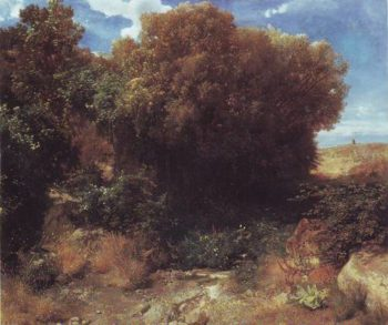 Campagna Landscape | Arnold Bocklin | oil painting