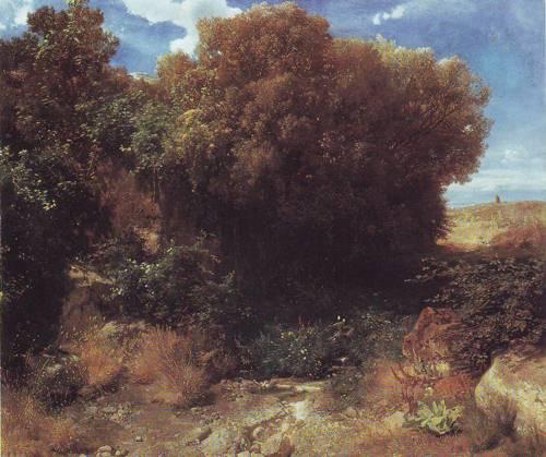 Campagna Landscape | Arnold Bocklin | oil painting