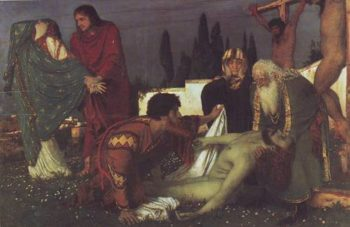 The Deposition | Arnold Bocklin | oil painting