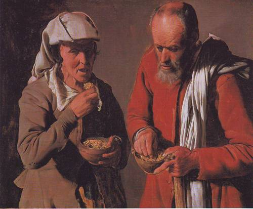 Couple Eating | Attributed To Georges De La Tour | oil painting