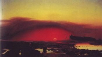 The Pontine Marshes At Sunset | August Kopisch | oil painting