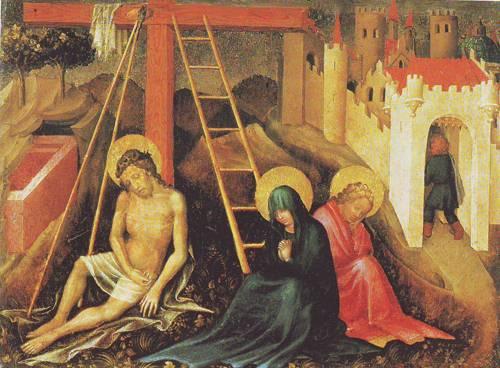 Christ As Man Of Sorrows Below The Cross | Austria | oil painting