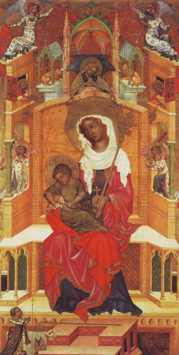 Madonna And Child Enthroned | Bohemian | oil painting