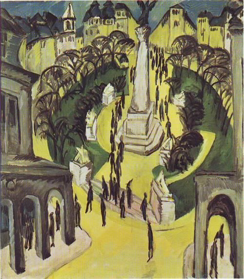 Belle Alliance Platz | Brnst Ludwig Kirchner | oil painting