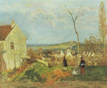 Louveciennes With Mont Valerien | Camille Pissarro | oil painting