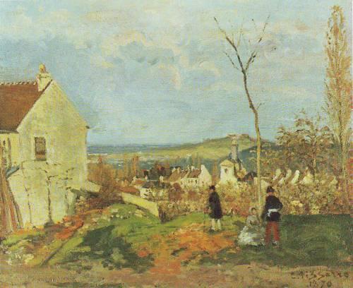 Louveciennes With Mont Valerien | Camille Pissarro | oil painting