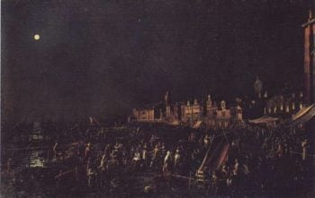 The Vigilia Di S.Marta | Canaletto | oil painting