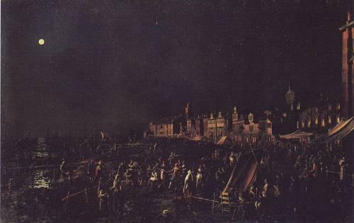 The Vigilia Di S.Marta   Canaletto   oil painting