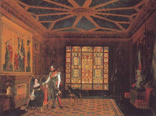 Armor Room In The Palace Of Prince Frederick Of Prussia   Carl Friedrich Zimmermann   oil painting