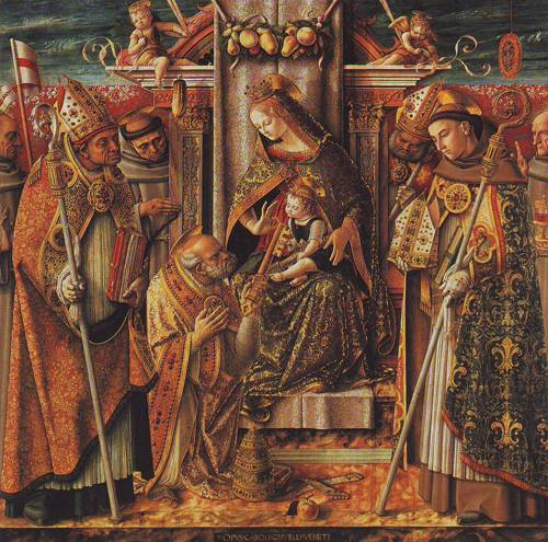 Mdonna And Child Enthroned | Carlo Crivelli | oil painting