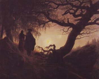 Couple Watchiing The Moon | Caspar David Friedrich | oil painting