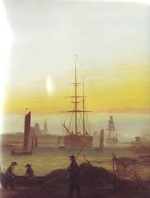 Greifswald Harbor   Caspar David Friedrich   oil painting