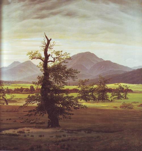 The Solitary Tree | Caspar David Friedrich | oil painting