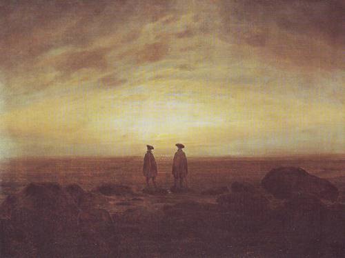 Two Men By The Sea | Caspar David Friedrich | oil painting