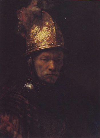 The Man In A Golden Helmet | Circle Of Rembrandt | oil painting