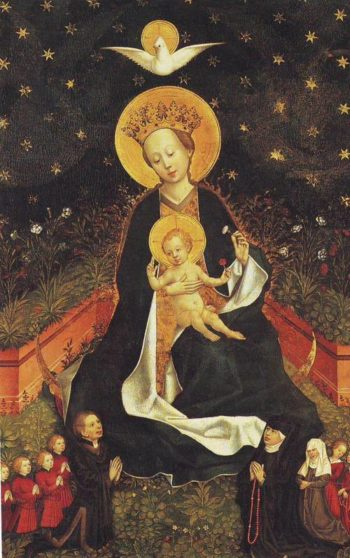 Madonna On A Crescent Moon In Hortus Conclusus | Cologne | oil painting