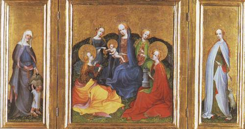 Madonna And Child With Saints | Cologne | oil painting