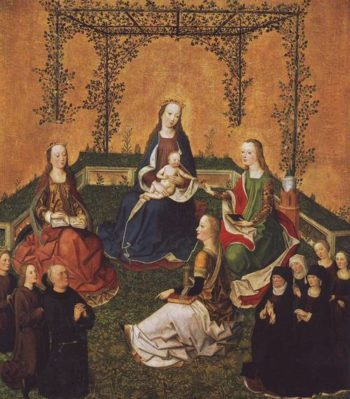 Madonna And Child With Three Saints | Colone | oil painting
