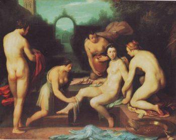 Bathsheba | Cornelis Cornelisz Van Haarlem | oil painting