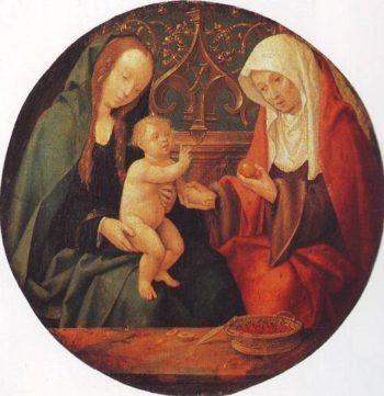 Virgin And Child St.Anne | Cornelis Engebrechtsz | oil painting