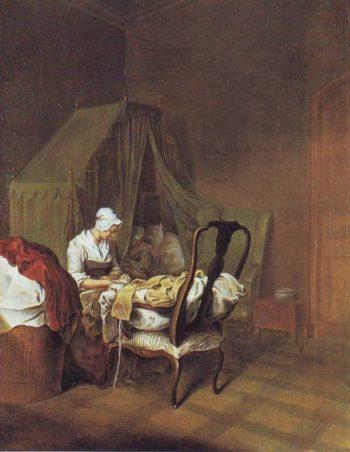 The Lying In Room.2 | Daniel Nikolaus Chodowiecki | oil painting