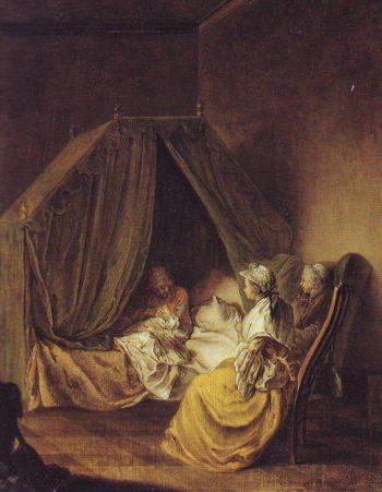 The Lying In Room | Daniel Nikolaus Chodowiecki | oil painting