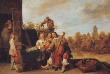 The Painter And His Family | David Teniers The Younger | oil painting