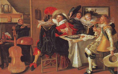 Merry Company At Table | Dirck Hals | oil painting