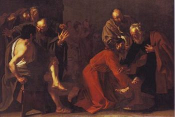 Christ Washing The Apostles'feet | Dirck Van Baburen | oil painting