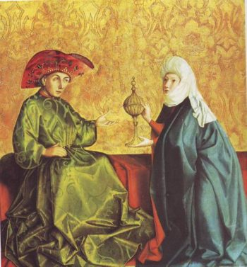 The Queen Of Wheba Before Solomon | Donrad Witz-Rottweil | oil painting