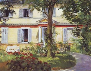 House At Rueil   Edouard Manet   oil painting