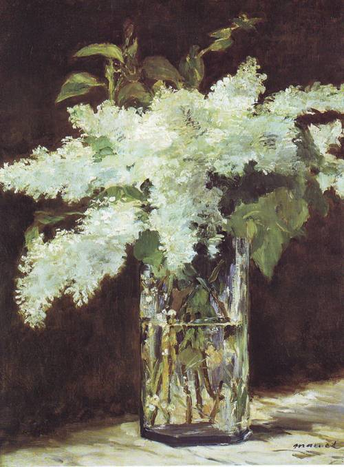 Lilac Ih A Glass   Edouard Manet   oil painting