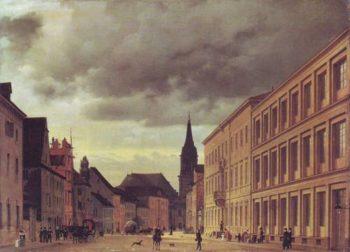 Klosterstrasse | Eduard Gartner | oil painting