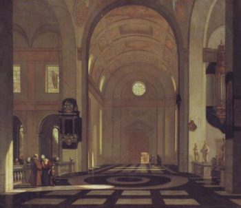 Interior Of A Baroque Church | Emauel De Witte | oil painting