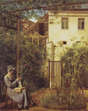 Viennese Domestic Garden | Erasmus Engert | oil painting
