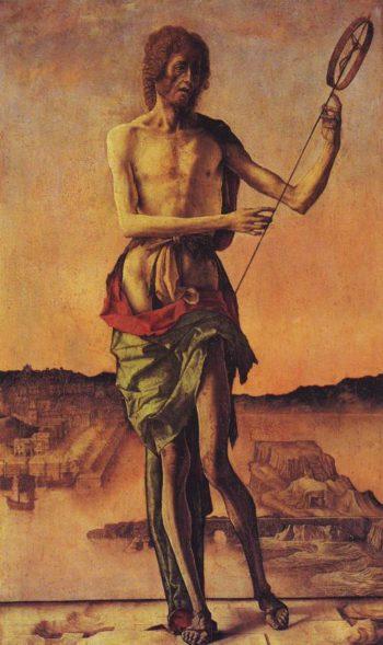 St.John The Baptist | Ercole De Roberti | oil painting