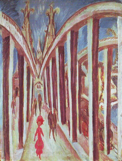 The Rhine Bridge | Ernst Ludwig Kirchner | oil painting