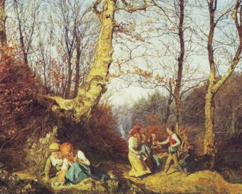 Early Spring In The Wienerwald | Ferdinand Georg Waldmuller | oil painting