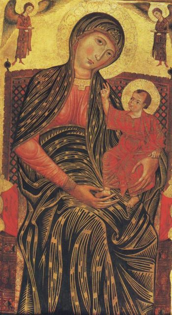 Madonna And Child Enthroned | Florence | oil painting