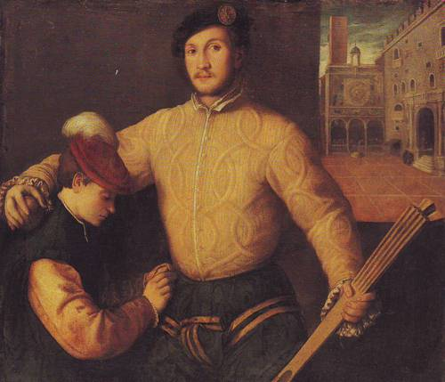 A Ballplayer And His Page | Francesco Beccaruzzi | oil painting
