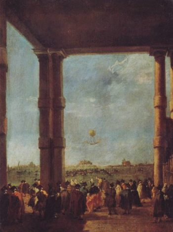 Hot Air Balloon Rising | Francesco Guardi | oil painting