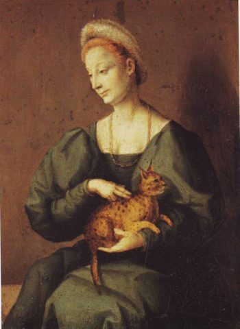 Woman With A Cat | Francesco Ubertin | oil painting