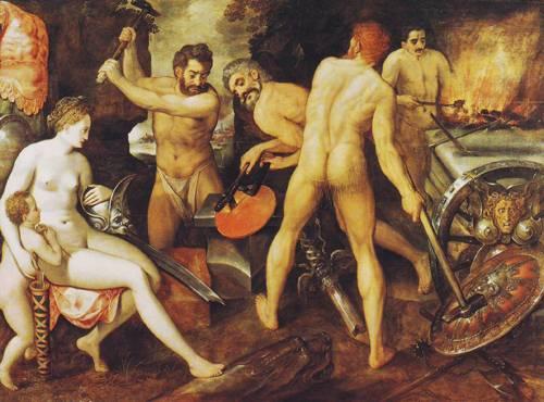 Venus At Vulcan's Forge | Frans Floris De Vriendt | oil painting