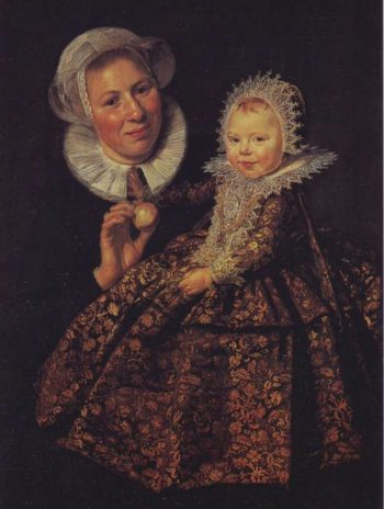The Infant Catharina Hooft With Her Nurse | Frans Hals | oil painting