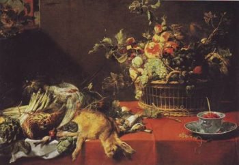 Still Life With Fruit Basket And Game | Frans Snyders | oil painting